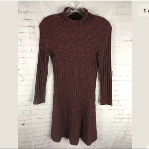 AMERICAN EAGLE OUTFITTERS SWEATER DRESS XS RED